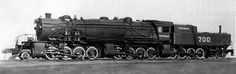Only one 2-8-8-8-4 was ever built, a Mallet-type for the Virginian Railway in 1916.[1] Built by Baldwin Locomotive Works.