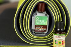 All Natural Yoga Mat Cleaner - use Tea Tree Oil, Vinegar & Lavender Oil to keep it fresh naturally.