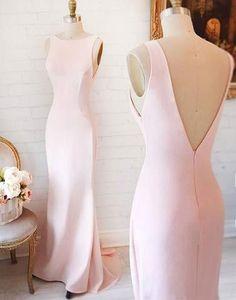 light pink Bridesmaid Dresses,cheap bridesmaid dress,long bridesmaid dress,simple bridesmaid dress, PD52656