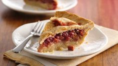 Strawberry-Rhubarb pie from Pillsbury - I'm gonna make this one as soon as the Rhubarb is ripe! ;)