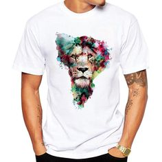 Lovely Casual Cartoon Print White T-shirt Comfort clothing for women staying at home. New arrival fashion clothing. 2020 newest clothing. Shop now fast shipping. Shirt Print Design, Tee Shirt Designs, Mens Tee Shirts, Cool T Shirts, Animal Print T Shirts, Looks Cool, Pullover, Shirt Outfit, Printed Shirts