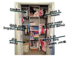 Organizing the Nursery Nursery Organization, Closet Organization, Organization Ideas, Organizing, Daughters Room, To My Daughter, Nurseries, Baby Ideas, Wardrobe Rack