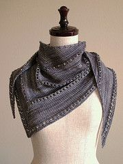 Ravelry: The Age of Brass and Steam Kerchief pattern by Orange Flower Yarn. good instructions of garter tab.