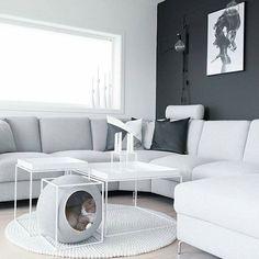 Fantastisk @Regrann from @ingvild90 - Good night ♡ // love how the catbed from @meyou_paris matches the tables! ---------------------------------------------- #whiteinterior #nordic_homes #interiorwarrior #interiorinspirasjon #interior_and_living #interioristapicture #skandinaviskehjem #interior4all #interior #interiørmagasinet #interior_august @interior_magasinet #nordiskehjem #interior #interior123 #interior9508 #kkliving #interiør #charminghomes #boligplussminstil #rom123 #boligplus...