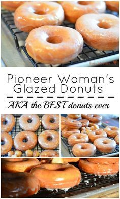 Pioneer Woman's Glazed Donuts Pioneer Woman's Glazed Donuts are the BEST donuts you'll ever eat. I've been making this easy donut recipe for years and can honestly tell you it's PERFECT! - The Pioneer Woman's Glazed donuts AKA the best donut recipe ever Best Donut Recipe, Baked Donut Recipes, Easy Yeast Donut Recipe, Amish Donuts Recipe, Fried Doughnut Recipe, Donut Recipe Pioneer Woman, Fry Donuts Recipe, Pioneer Woman Cookies, Pioneer Woman Desserts