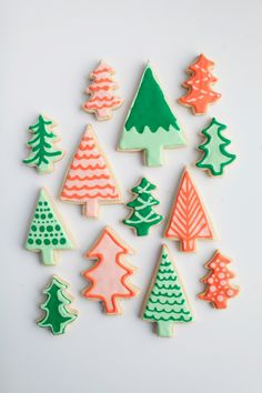 { christmas tree cookies | tell love & chocolate }