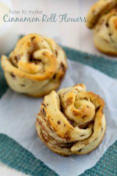 How to make Cinnamon Roll Flowers {photo tutorial}