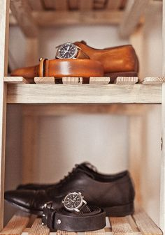 Men should always match these three things. Shoes, belt and watch.