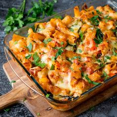 Cheesy Pasta Bake With Chicken And Bacon - a delicious and easy to make family favourite (and it makes great leftovers too!).