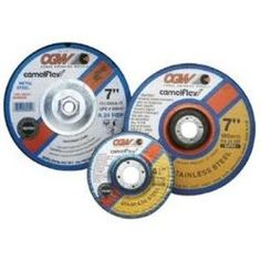 """Depressed Center Grinding Wheel, T27, 9"""""""""""""""" x 1/4"""""""""""""""" x 7/8"""""""""""""""" Arbor, A24N for Metal, 6,600 RPM"""
