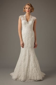 MZ2 by Mark Zunino - V-Neck Mermaid Gown in Lace