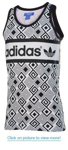 Adidas Originals Men's Mutombo Tank Top-White/Black