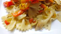 Farfalle with Peppers, Artichoke Hearts and Olives