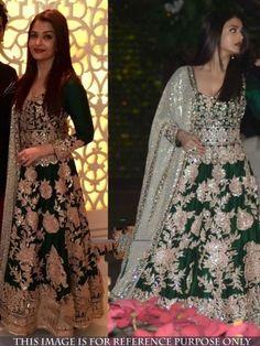 Green Color Joya Silk Gown