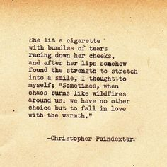 "Christopher Poindexter New series, my loves. ""Crumble life: I will fall in love with your pieces"" ❤️"