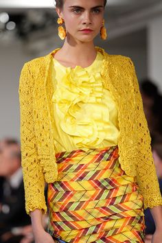 """No shortage of color here."" Oscar de la Renta Spring 2013 RTW"