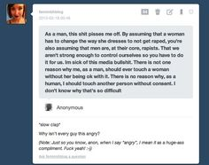 Every man should lash out against the notion that they are inherently rapists who cannot control themselves.