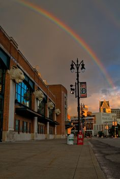Double rainbow over Detroit - Comerica Park, home of the Detroit Tigers in the foreground, Downtown Detroit (Detroit's pot of gold) in the background. Beautiful image, not one of mine. ~cdesign007
