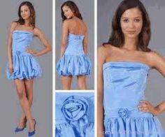 vestido azul muy lindo para ir a fiestas