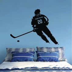 ALL HOCKEY STICKERS Hockey Gifts, Hockey Mom, Ice Hockey, Wall Stickers Room, Wall Decals, Team Quotes Teamwork, Hockey Bedroom, Baseball Wall, Hockey Players