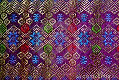 Pattern of thai textile from Esan thailand