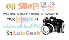 This is such a cute idea for people to earn Lulacash. I love that it's business card size so it's small and convenient to add to clients LuLaRoe purchases.