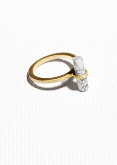 & Other Stories   Stone Bar Ring