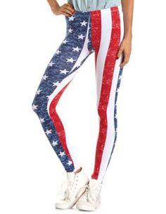 american flag cotton legging