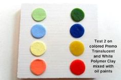 Adding Oil Paint To Polymer Clay, Can Create Your Own Colored Translucent Clay And Colored Clay by colette Polymer Clay Dolls, Polymer Clay Creations, Polymer Clay Earrings, Porcelain Paint Pens, Art Journal Techniques, Clay Tiles, Cute Clay, Make Your Own Jewelry, Clay Tutorials