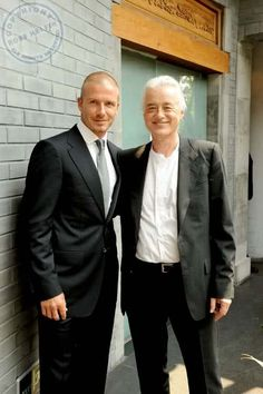 Jimmy Page and David Beckham (Pht: Ross Halfin)