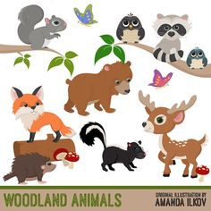 Items similar to Premium Woodland Animal Clip Art, Woodland Animal Vectors - Woodland Vectors, Woodland Clipart, Forest Animals, Forest Animal Clipart on Etsy Bear Clipart, Hirsch Silhouette, Deer Silhouette, Owl Clip Art, Baby Clip Art, Deer Design, Animal Design, Forest Animals, Bebe