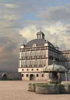 Lisbon before the 1755 earthquake by Bruno Telésforo, via Behance