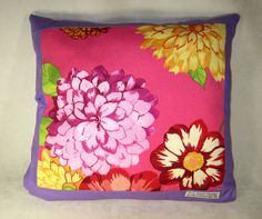 Handmade Pillow  cushion  Summer Flowers of by EvaScottDesign, $25.00