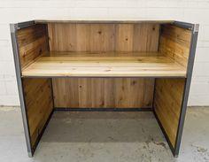 Custom reception desk by Salvage Interiors