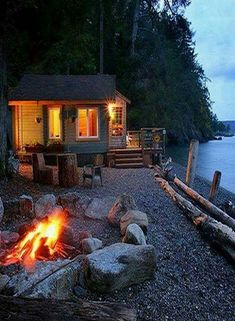 "I wanna go! ~ Boathouse rental cabin on Orcas Island, Washington State. If you don't own a cabin or ""water"" vacation home - this is the place to go in the San Juan Islands of Washington State, where you can ""island hop"" via Island Ferries. Tiny Beach House, House Near Beach, Orcas Island, Water House, Houses On The Water, Little Cabin, House By The Sea, House On Land, Cabins And Cottages"