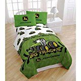 #ad John Deere Farming Tractor 3 Piece Twin Sheet Set  100 percent Polyester. Twin set includes: 1 twin flat sheet, 1 twin fitted sheet and 1 standard pillow case. 100 percent Polyester (Microfiber). Care instructions: machine wash cold, tumble dry low, do not bleach, wash dark colors separately. For that child who loves John Deere everything. Authentic John Deere product   Company:  Jay Franco & Sons  List Price:  $45.00  Amazon Price:  $45.00  https://www.amazon.com/Deere-Farm..
