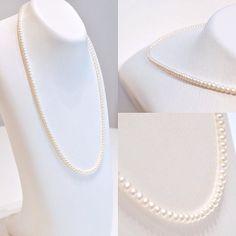 淡水パールのネックレス ホワイトの小さな粒が可愛らしい印象に #ジュエリー #パール #ネックレス #necklace #jewelry #pearl #真珠 #淡水パール #ginza #銀座 #メルサ #銀座watatsumi