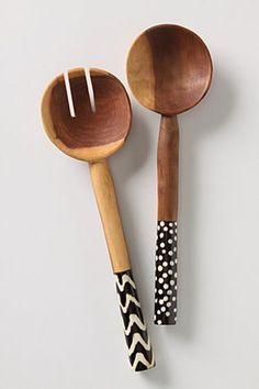 Cute idea to steal- paint the ends of wooden utensils in colors to match kitchen. Sydney could do this!