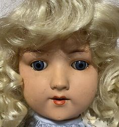 """24"""" Antique German Cold Fired Painted Bisque Dolly Doll by Hugo Wiegand Siz6 1/2 