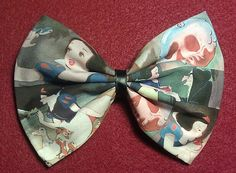 Poison Apple Snow White Hair Bow by Malabows on Etsy, $8.00