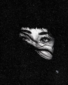 Shared by 𝘮𝘪𝘢. Find images and videos about girl, black and art on We Heart It - the app to get lost in what you love. Dark Wallpaper, Galaxy Wallpaper, Art Sketches, Art Drawings, Arte Peculiar, Petit Tattoo, Arte Obscura, Black Aesthetic Wallpaper, Aesthetic Art