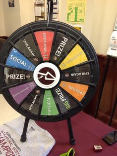 Spin the big wheel and if you land on the right slot we will give you some much needed emotional support! Buy the Prize Wheel at http://PrizeWheel.com/products/tabletop-prize-wheels/mini-clicker-prize-wheel/.