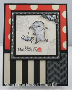 Sharon Burkert, As The Ink Dries, Stampin' Up!, Googly ghouls patchwork