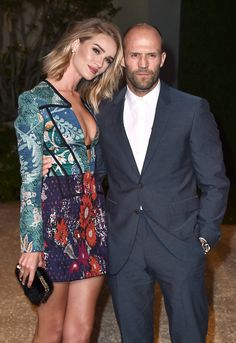 """Rosie Huntington-Whiteley & Jason Statham from Burberry's """"London in Los Angeles"""" Event"""