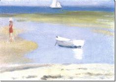 Clarice Beckett- At Mornington Peninsula Regional Gallery- By Lucy Australian Painters, Australian Artists, Small Canvas Art, Z Arts, Painting & Drawing, Landscape Paintings, Illustration Art, Illustrations, Coastal