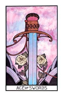 September 15 Tarot Card: Ace of Swords (Aquarian deck) Stay strong. Stay true to you. You're at a powerful point now, where so much lies ahead ~ don't look back