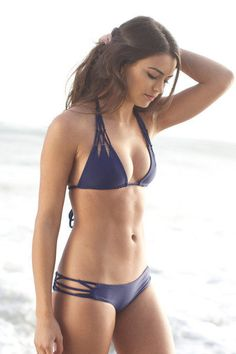 The Girl and The Water - ACACIA Swimwear 2014 - Tunnels Bikini Top / Indigo - $110 - BIKINI on InStores