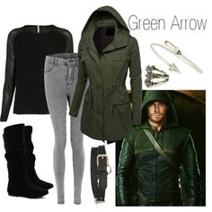 Want that jacket! Character: Green Arrow/Oliver Queen Fandom: Arrow/DC Movie Inspired Outfits, Themed Outfits, Casual Cosplay, Cosplay Outfits, Cosplay Ideas, Disney Outfits, Cute Outfits, Disney Costumes, Arrow Oliver