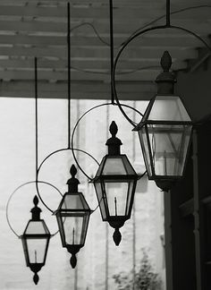 """Love the gas lanterns with a yoke New Orleans - Warehouse District """"Gas Lanterns"""" by David Paul Ohmer, via Flickr"""