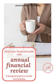 Organize your finances, keep track of goals with an annual financial review. Break down your personal finance check-up to these 8 parts to make your it easier and avoid overwhelm. #annualreview #personalfinance #moneycheck Financial Literacy, Financial Goals, Best Budgeting Tools, Money Market Account, Household Budget, What Is Work, Managing Money, Finance Organization, Early Retirement